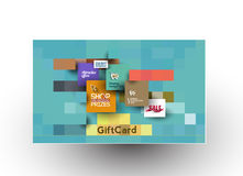 Beautiful gift card Design. Set of Beautiful gift card Design Royalty Free Stock Photography