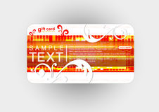 Beautiful gift card, illustration. Royalty Free Stock Photos