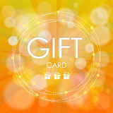Beautiful gift card,  illustration. Stock Photo