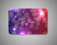 Beautiful Gift Card. Vector Illustration Royalty Free Stock Photos