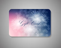 Beautiful Gift Card. Vector Illustration Stock Images