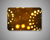Beautiful Gift Card. Vector Illustration Royalty Free Stock Photo