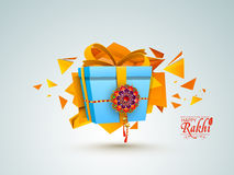 Beautiful gift for Happy Raksha Bandhan. Stock Images