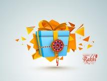 Beautiful gift for Happy Raksha Bandhan. Stock Images