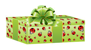 beautiful gift with a large bow Royalty Free Stock Photos