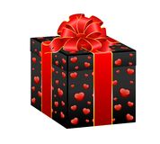 Beautiful gift with a large bow Stock Images
