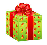 beautiful gift with a large bow Royalty Free Stock Photo