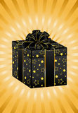Beautiful gift with a large bow Royalty Free Stock Photography