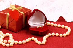 Beautiful gift for St. Valentine Day celebration Royalty Free Stock Photography