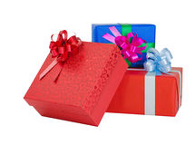 Beautiful giftbox. Isolated on white Stock Photography
