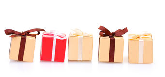 Beautiful gifts with bows Royalty Free Stock Image