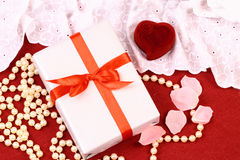 Beautiful gifts for St. Valentine Day Royalty Free Stock Photos