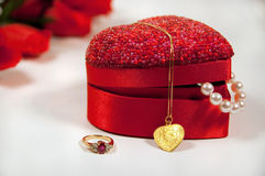 Beautiful gifts for valentine's Royalty Free Stock Photos