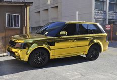 Toronto, 24th June: Beautiful Gilded Range Rover Car. Beautiful Gilded Range Rover Car in Toronto of Ontario Province in Canada on June 2017 Stock Photo