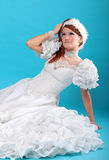 Beautiful ginger in a dress of Snow Queen Stock Images