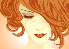 Beautiful ginger girl Stock Photos