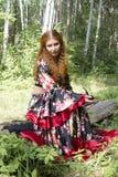 А beautiful ginger-haired girl Stock Photo