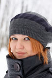 Beautiful ginger-haired girl Royalty Free Stock Image