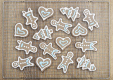 Beautiful gingerbread cookies Royalty Free Stock Images