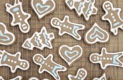 Beautiful gingerbread cookies Stock Image
