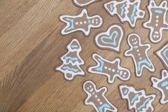 Beautiful gingerbread cookies Stock Images