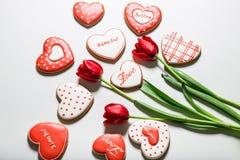 Beautiful gingerbread heart Stock Photos
