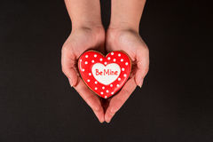 Beautiful gingerbread heart Stock Photography