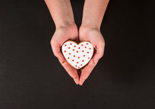 Beautiful gingerbread heart Royalty Free Stock Photography