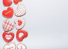 Beautiful gingerbread heart Royalty Free Stock Photos