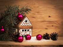 Beautiful gingerbread house Royalty Free Stock Image