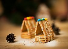 Beautiful gingerbread house Stock Images