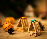 Beautiful gingerbread house Royalty Free Stock Images