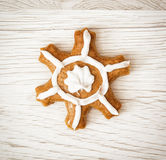 Beautiful gingerbread star, Christmas symbol Royalty Free Stock Photo