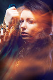 Beautiful gipsy woman stock photos