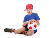 Beautiful gir with a ball Royalty Free Stock Photography