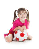 Beautiful gir with a ball Royalty Free Stock Images