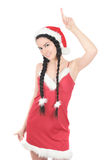 Beautiful gir in red dress Royalty Free Stock Photo