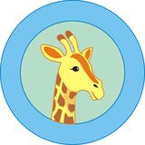 Beautiful Giraffe Logo. African Beauty Animal, Giraffe in Logo Stock Image