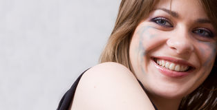 Beautiful girl. Sight of the beautiful girl Stock Photography