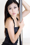 Beautiful girl. A portrait of a beautiful asian girl gazing forward to the viewer Royalty Free Stock Photography