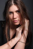 Beautiful girl. Sensual beautiful girl in studio Royalty Free Stock Images