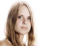 Beautiful girl. Portrait of a young girl Royalty Free Stock Images