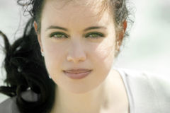 Beautiful girl. With green eyes Stock Photo