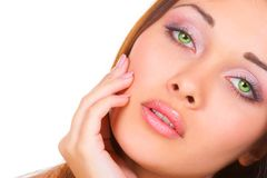 The beautiful girl. The girl with green eyes Stock Images