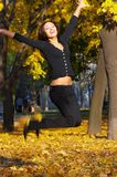 The beautiful girl. The girl in autumn park Stock Images