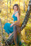 Beautiful girl. In autumn wood Royalty Free Stock Image