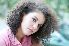 Beautiful girl. In pink Stock Photo