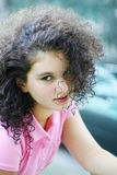 Beautiful girl. In pink Royalty Free Stock Photo