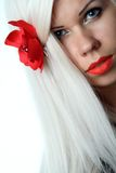 Beautiful girl. Picture of beautiful woman with orchid flower Stock Images