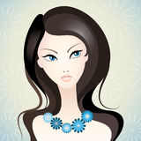 Beautiful girl. Vector illustration of a young beautiful girl Royalty Free Stock Photo